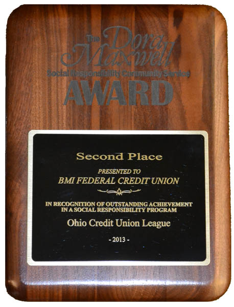 second place plaque award