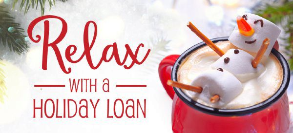 relax with a holiday loan logo